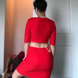 RED HOT OPEN BACK DRESS